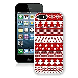 Design for Mass Customization Christmas Seamless Texture iPhone 5 5S TPU Case 1 White