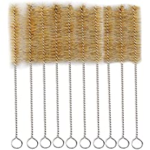 """Test Tube Cleaning Brush 25mm Dia. Tan Bristles Radial Tip 9.4"""" Length Tube Wash Cleaning Brush for Lab Set Chemistry, 15 Pack"""