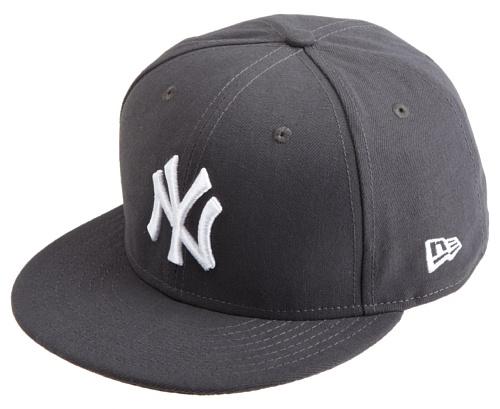 MLB New Era New York Yankees League Basic Cap, Grey, 7 1/8