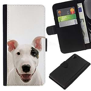 All Phone Most Case / Oferta Especial Cáscara Funda de cuero Monedero Cubierta de proteccion Caso / Wallet Case for Sony Xperia Z2 D6502 // American Pit Bull Terrier Dog Canine Pet