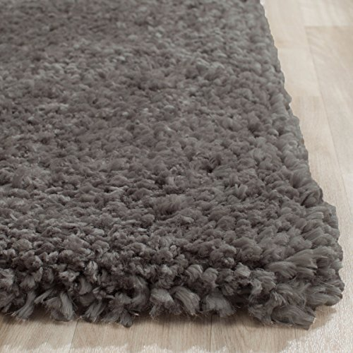 Cheap Super Soft Indoor Modern Shag Area Smooth Rugs Fluffy Rugs Anti-Skid Shaggy Area Rug Dinning Room Home Bedroom Carpet Floor Mat 8- Feet By 10- Feet (Grey) – (Popcorn Gray Grey)