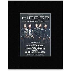 HINDER - September 2015 Tour Mini Poster - 13.5x10cm