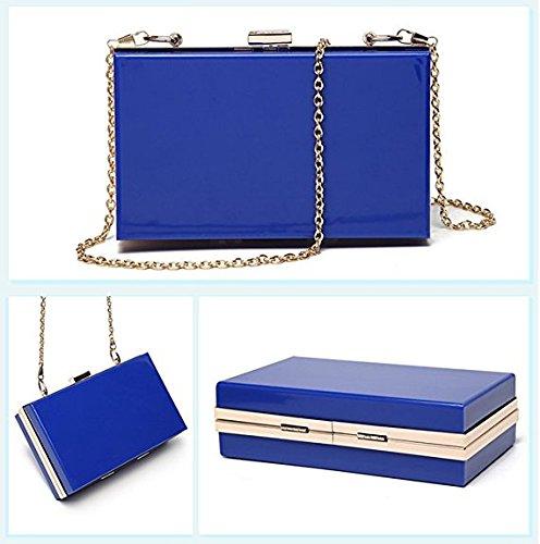 Blue Bag Acrylic Handbag Cross Purse Women Body Marchome Evening Shoulder Clutch RqZgUa