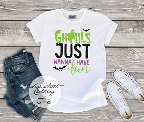 Ghouls just wanna have fun T shirt - baby, toddler, youth, women, men, funny, halloween, bats, ghosts, costume