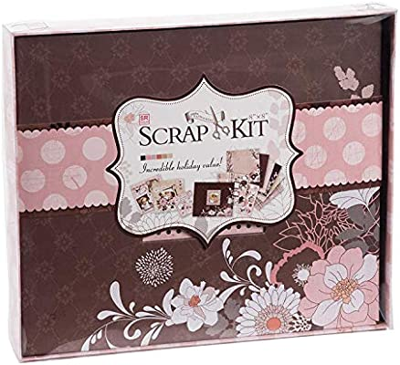 Juvale DIY Scrapbook Kit Photo Album - Dusty Pink, 10.63 x 9.13 x 1.38 Inches: Amazon.es: Juguetes y juegos