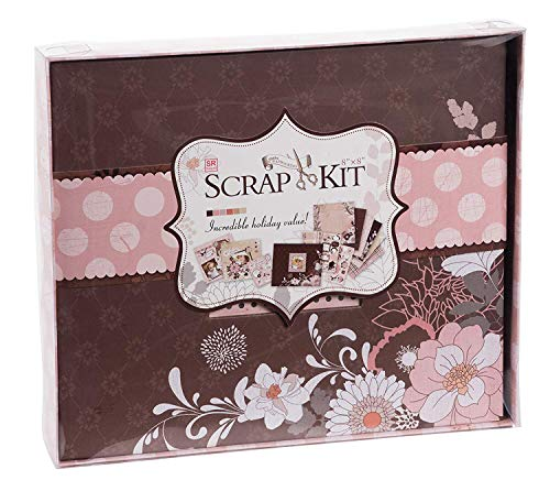 DIY Scrapbook Kit Photo Album - Dusty Pink, 10.63 x 9.13 x 1.38 Inches