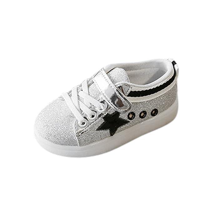 YanHoo Zapatos Ligeros para niños niños y niñas Zapatos radiantes de Colores LED Flash Zapatos para