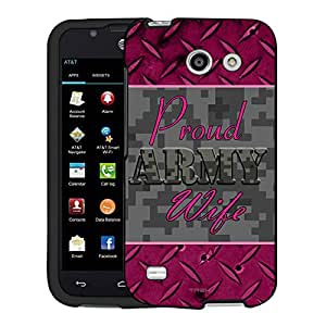 AT&T Tribute Case, Snap On Cover by Trek Proud Army Wife Grey and Pink Case