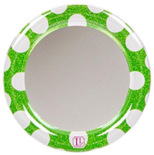 Match Polka Dot Wallpaper (LockerLookz Locker Mirror - Green Polka Dot - 1 piece)