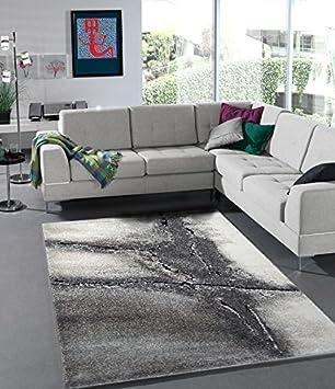 Teppich Edler Wohnzimmer Teppich Modern Stein Optik Natur Farben ...