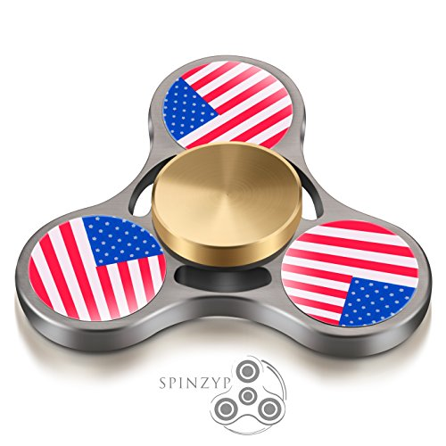 Fidget Spinner – HIGH SPEED Metal Ultra Durable Tri Hand Spinner EDC Fidget Toy Fingertip Gyro for Increased Focus, Stress Relief, ADHD, Autism, and A…