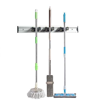 Amazon Com Home Master Hardware 16 Broom Mop Holder Garage Storage
