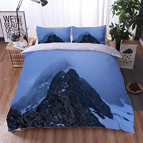 HOOMORE Bed Comforter - 3-Piece Duvet -All Season, Little Bear Peak Colorado Rocky Mountains,HypoallergenicDuvet-MachineWashable -Twin-Full-Queen-King-Home-Hotel -School