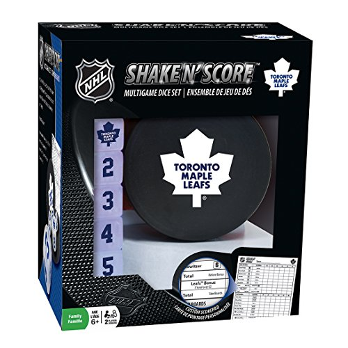 MasterPieces NHL Toronto Maple Leafs Shake 'n Score Dice Game