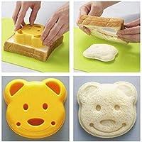 2X DIY Bear Cookie Pastry Cutter Sandwich Toast Maker Bread Baking Mold Tool