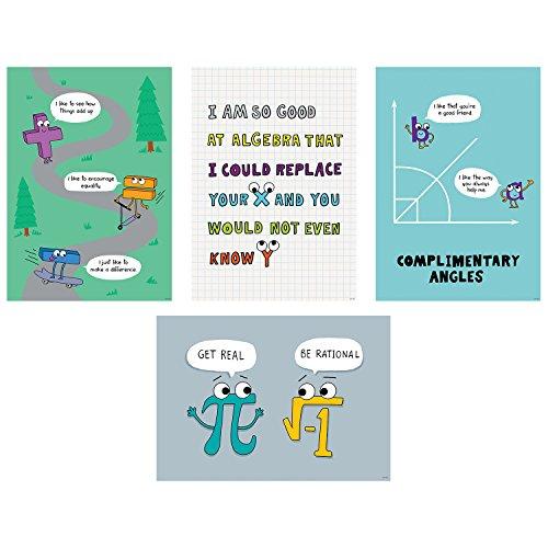 Algebra Poster - Creative Teaching Press Math So Much Pun! Poster 4-Pack, CTP (8520)
