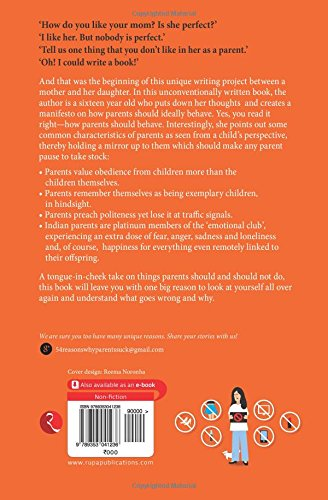 Image result for book review of 54 reasons why parents suck by swati lodha