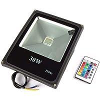 Refletor Rgb 30w Led Bivolt Prova D'água Slim Ip66