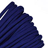 Solid Colors Paracord - Type III Parachute Cord - Acid Midnight Blue - 100 Feet