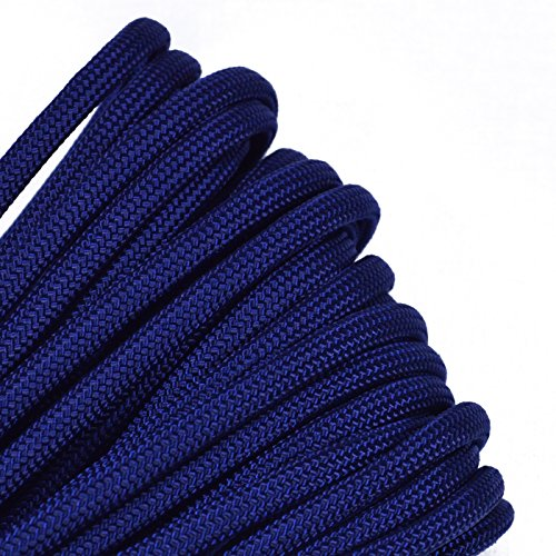 Solid Colors Paracord - Type III Parachute Cord - Acid Midnight Blue - 25 Feet by BoredParacord (Image #1)