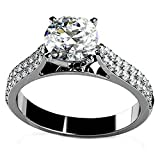 925 Sterling Silver Wedding Engagement Ring For Women Cubic Zirconia Double Layers Size 9