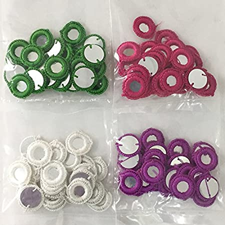 Embroiderymaterial Uncinetto Shisha specchi applique Combo Pack per ricamo e artigianato fine Combo-10