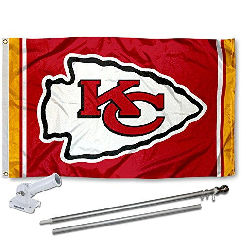 WinCraft Kansas City Chiefs Flag Pole and Bracket Kit