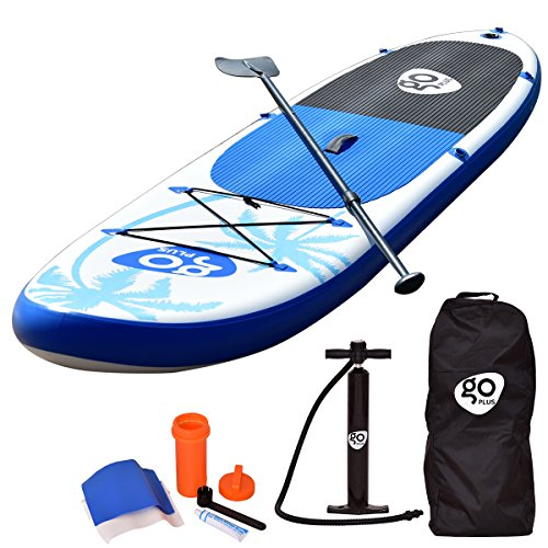 Goplus 11' Inflatable  Stand Up Paddle Board Package w/ Fin Adjustable Paddle Pump Kit Carry Backpack, 6' Thick