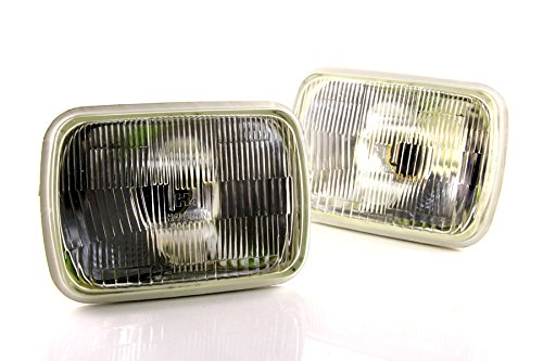 Pair of DDM Tuning H6054 Conversion Halogen Headlamp, 200mm Rectangular, 1 Year Warranty ()