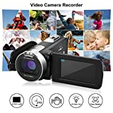 """incoSKY 53TRCSEN-DLAUS-01 Video Camera Camcorder,1080P 24MP 16X Digital Zoom Camera With 2.7"""" TFT LCD 270° Rotation Screen, Black"""