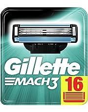 Gillette Mach3 Scheermesjes Voor Mannen, 16 Navulmesjes, Met Mesjes Sterker Dan Staal