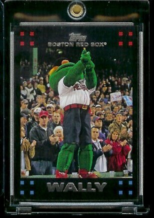 2007 Boston Red Sox LIMITED EDITION Team Edition Baseball Card # BOS55 Wally The Green Monster - RED SOX - MLB Trading Card - Fleer Limited Edition Baseball Card