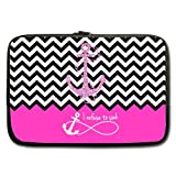 Best Stylish Pink Block Chevron Zigzag Infinity Anchor Quotes I refuse to Sink 13 Inch Laptop/Notebook Computer Sleeve Bag Case (two sides) for Macbook, Macbook Air/Pro 13