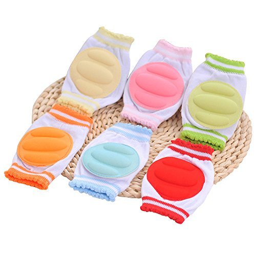 E Support™ Unisex Breathable Adjustable Elastic Infant Toddler Baby Kneepads Knee Elbow Pads Crawling Safety Protector Indoor Outdoor Use