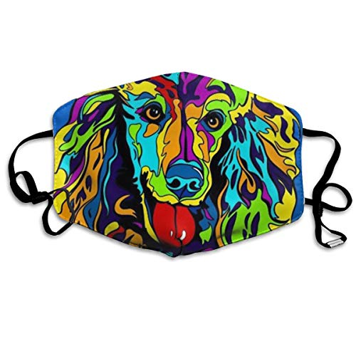 EDFYUHJ Multi-Color Poodle Dog Fashion Earloop Face Masks, Anti-Dust Anti Flu Pollenm Germs Bacteria Virus Smog Face and Nose Cover with Adjustable Elastic Strap, Medical Mask