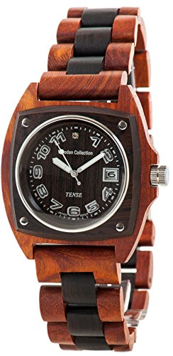 Tense Wood Unique Two-Tone Watch Mens Discovery Trail G4101RD ANDF