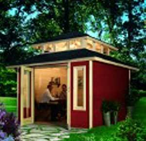 Karibu-Refugio para jardín Châtaigne 27,05M3 Karibu Haugesund, color rojo