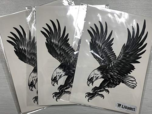 4 Large Temporary Tattoos- Eagle, Dragon, Tiger, Wolf for sale  Delivered anywhere in USA