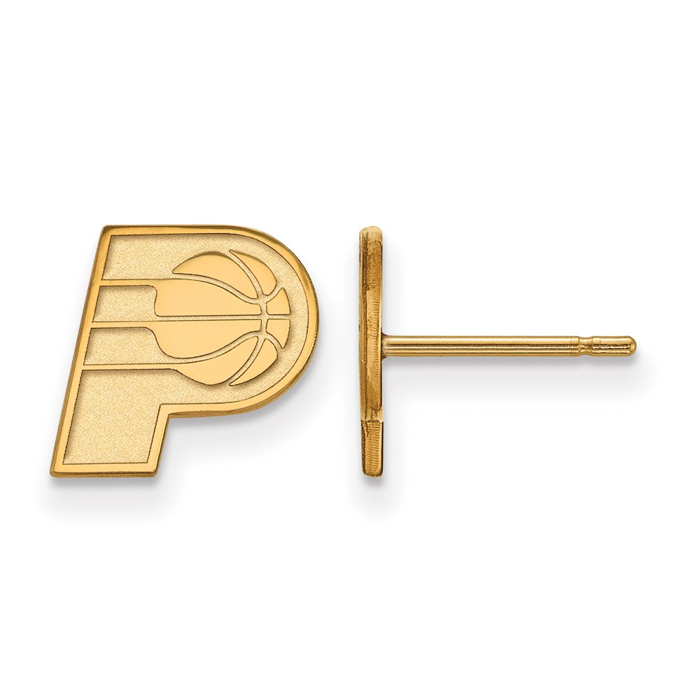 NBA Indiana Pacers X-Small Post Earrings in 14K Yellow Gold