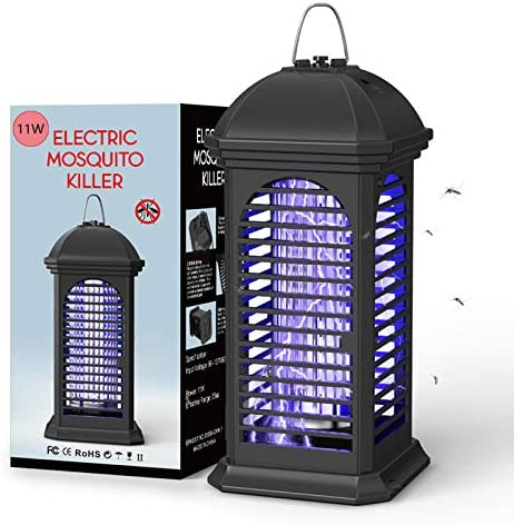 NAIYO Bug Zapper-11W Powerful Insect Killer,Electronic Insect Killer,Safety Mosquito Fly Repelled Lamp,Electric Mosquito Zapper Killer for Home/Office/Backyard/Patio