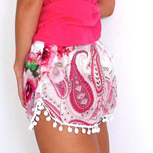 donna estivi sportivi nappa jeans spiaggia beautyjourney estate corti cotone shorts donna donna eleganti eleganti donna da pigiama Pantaloncini Pantaloncini estivo pantaloni corti Rosso xqwgZw7I