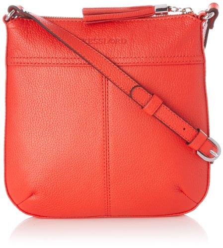 Kesslord Womens Odeline Cross-Body Bag Red