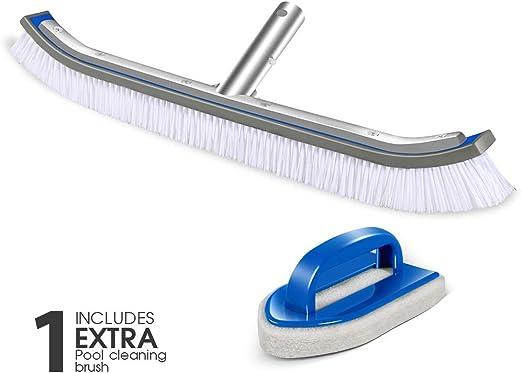 Masthome Cepillo para Piscina, 45cm, para Limpiar Fondo y Paredes ...