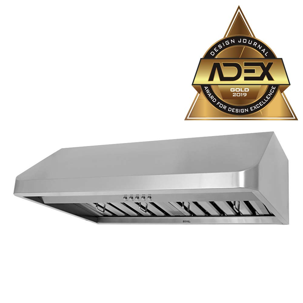 KOBE CHX9130SQB-1 Brillia 30-inch Under Cabinet Range Hood, 3-Speed, 680 CFM, LED Lights, Baffle Filters