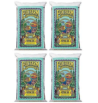 (4) FoxFarm FX14000 Ocean Forest Garden Potting Soil Bags 6.3-6.8 pH   6 Cu Ft