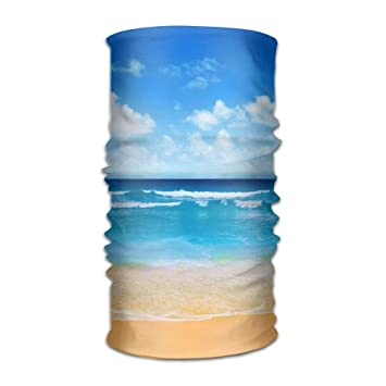 db60af28a Amazon.com : Comfort Outdoor Running Headbands Bandana Scarf Wrap Beach  Azure Horizon Sunny Summer Running Hiking Work Out Facemask Sweatband Head  Scarf ...