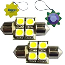 HQRP 2-Pack Cool White 31mm Festoon 4 LEDs SMD 5050 LED Bulb for 211-2 / 212-2 / 214-2 RV Interior / Porch Lights Replacement + HQRP UV Meter