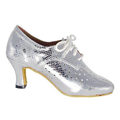 misu - Zapatillas de danza para mujer Negro negro champán