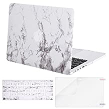 Mosiso Plastic Hard Case with Keyboard Cover and Screen Protector for MacBook Pro 13 Inch with Retina Display No CD-ROM (A1502/A1425, Version 2015/2014/2013/end 2012), Marble Pattern