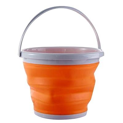 10 L Car Wash Seau extérieur Pêche Portable Barrel Folding Bucket
